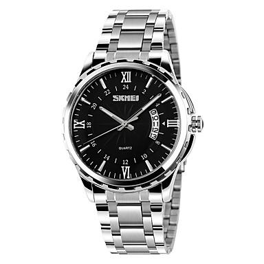 SKMEI Bărbați Ceas de Mână Ceas La Modă Quartz Oțel inoxidabil Bandă Argint