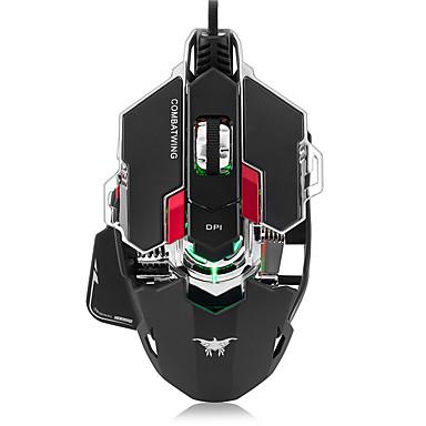 Combatwing gaming muis 4800 dpi optische usb bedraad professionele gaming muis programmeerbare 10 toetsen rgb ademhaling geleid muizen