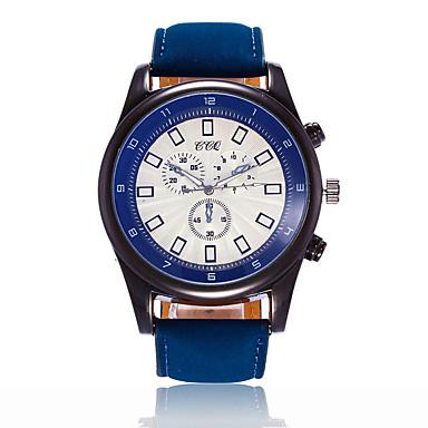 Herrn Kleideruhr Modeuhr Armbanduhr Einzigartige kreative Uhr Armbanduhren für den Alltag Chinesisch Quartz Großes Ziffernblatt Leder Band