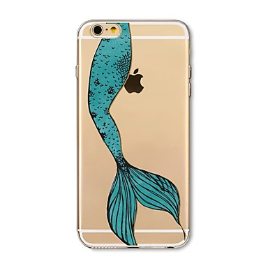 غطاء من أجل Apple iPhone X iPhone 8 Plus شفاف نموذج غطاء خلفي امرآة مثيرة حيوان كارتون ناعم TPU إلى iPhone X iPhone 8 Plus iPhone 8 فون 7