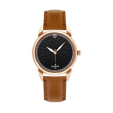 للرجال كوارتز ساعة المعصم عرض ساخن جلد طبيعي فرقة كاجوال موضة أسود