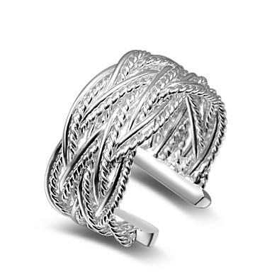Dames manchet Ring Sieraden oversteekplaats Verstelbaar Koper Verzilverd Sieraden Bruiloft Feest Kantoor / Formeel Dagelijks gebruik