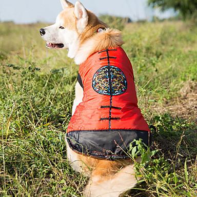 كلب سترة ملابس الكلاب دافئ رأس السنة الأزهار/النباتية كوستيوم للحيوانات الأليفة