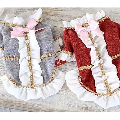 Hund Kleider Hundekleidung Lässig/Alltäglich Prinzessin Grau Rot Kostüm Für Haustiere