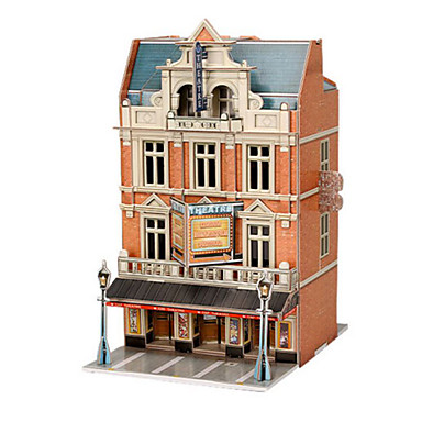 Puzzle 3D Puzzle Modelul de hârtie Clădire celebru Articole de mobilier Lemn natural Unisex Cadou