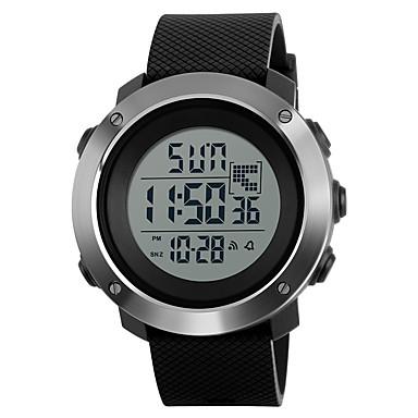 SKMEI Heren Polshorloge / Militair horloge / Sporthorloge Alarm / Kalender / Waterbestendig PU Band Amulet Zwart / Groen / Grijs