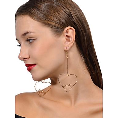 Pentru femei Cercei Picătură Iubire Inimă Aliaj Heart Shape Bijuterii Pentru Nuntă Petrecere Zi de Naștere Logodnă Zilnic Casual