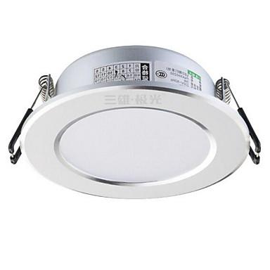 1pc 3w led lumina de jos celing lumina cald alb ac220v gaura de dimensiune 75mm 210lm