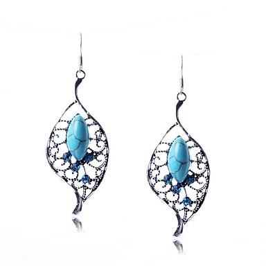 Pentru femei Cercei Picătură Turcoaz Design Unic Stil Atârnat Clasic Leaf Shape Bijuterii PentruNuntă Petrecere Ocazie specială Zi de