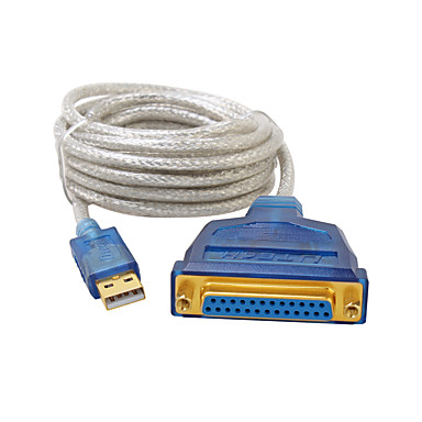 USB 2.0 Adapterkabel, USB 2.0 to DB25 Adapterkabel Male - Female 5.0m (16ft)