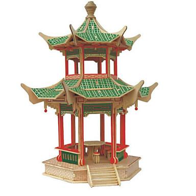 3D-puzzels Legpuzzel Speeltjes Beroemd gebouw Architectuur 3D DHZ Hout Natuurlijk Hout Unisex Stuks