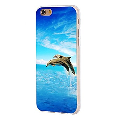 Caz pentru iphone 7 6 delfini tpu soft ultra-subțire spate cover case acoperă iphone 7 plus 6 6s plus se 5s 5 5c 4s 4