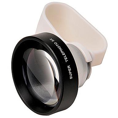 Biaze Telefonobjektiv Fischaugenlinse langes fokales Objektiv Aluminium 5x Handykameraobjektivinstallationssatz für Samsung android