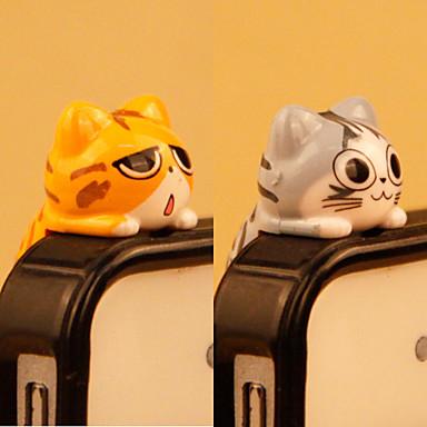 ieftine Decorațiuni Mobil-anti-praf plug diy pisică cartoon jucărie pvc diy pentru iphone 8 7 samsung galaxy s8 s7