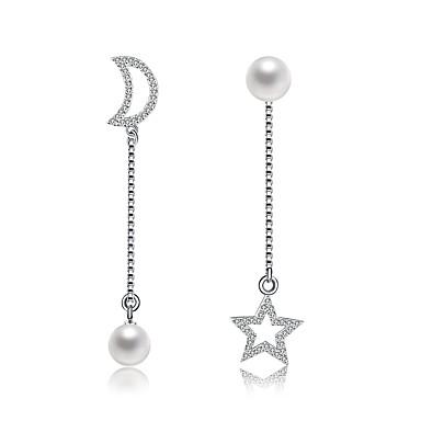 Pentru femei Cercei Picătură Ștras Imitație de Perle Lux Natură Nepotrivirea Cute Stil Crăciun Imitație de Perle Ștras Argilă Geometric