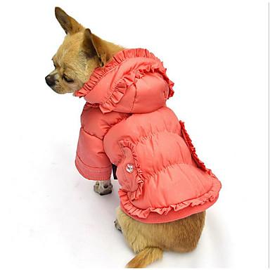 كلب المعاطف هوديس ملابس الكلاب سادة برتقالي أحمر أزرق البوليستر قطن بطانة فرو كوستيوم للحيوانات الأليفة للرجال للمرأة كاجوال / يومي