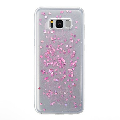 Case For Samsung Galaxy S8 Plus S8 Translucent Back Cover Heart Glitter Shine Soft TPU for S8 Plus S8 S7 edge S7