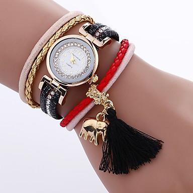 Pentru femei Unic Creative ceas Ceas Brățară Ceas La Modă Chineză Quartz PU Bandă Charm Casual Boem Elegant Negru Alb Albastru Roșu Pink