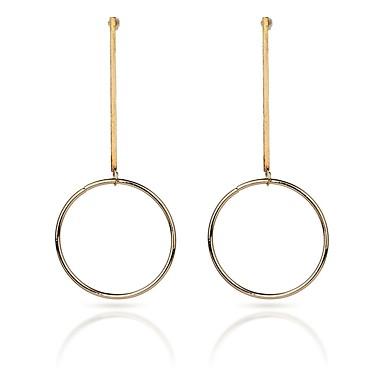 Pentru femei Cercei Picătură - Metalic / Modă Auriu / Argintiu Circle Shape / Line Shape cercei Pentru Casual / Oficial