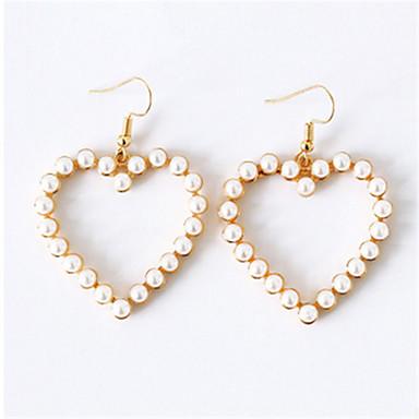 Pentru femei Cercei Picătură Imitație de Perle La modă Personalizat Imitație de Perle Aliaj Heart Shape Bijuterii Pentru Zilnic Casual