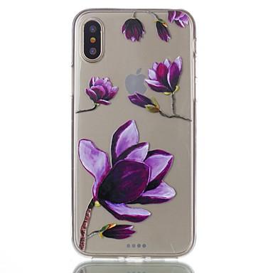 Pentru iPhone X iPhone 8 iPhone 8 Plus Carcase Huse Ultra subțire Transparent Model Carcasă Spate Maska Floare Moale TPU pentru Apple