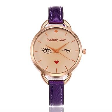 Pentru femei Unic Creative ceas Ceas de Mână Ceas La Modă Chineză Quartz PU Bandă Charm Casual Negru Alb Albastru Roșu Maro Auriu Violet