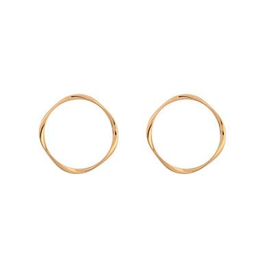 Pentru femei Cercei Rotunzi  Bijuterii Personalizat Placat Auriu Aliaj Bijuterii Pentru Petrecere Stradă