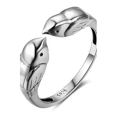 Pentru femei Inel Unghiul degetului unghiilor Argintiu Plastic Pasăre Design Animal Absolvire Anul Nou Costum de bijuterii