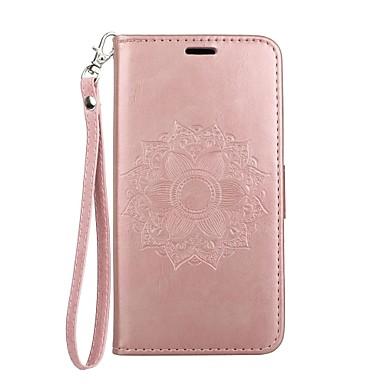 Pentru iPhone X iPhone 8 iPhone 8 Plus Carcase Huse Portofel Titluar Card Cu Stand Întoarce Embosat Model Corp Plin Maska Mandala Greu PU