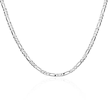 billige Mode Halskæde-Herre Dame geometrisk Kædehalskæde Sølvbelagt Sølv Halskæder Smykker Til Daglig Arbejde