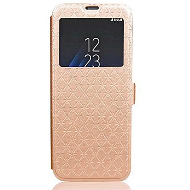 Недорогие Чехлы и кейсы для Galaxy S6-Кейс для Назначение SSamsung Galaxy S8 Plus / S8 / S7 edge Кошелек / Бумажник для карт / со стендом Чехол Однотонный Твердый Кожа PU