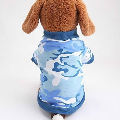 Câine Tricou Îmbrăcăminte Câini Geometric Galben Albastru Bumbac Costume Pentru animale de companie Vară Bărbați Pentru femei Casul /