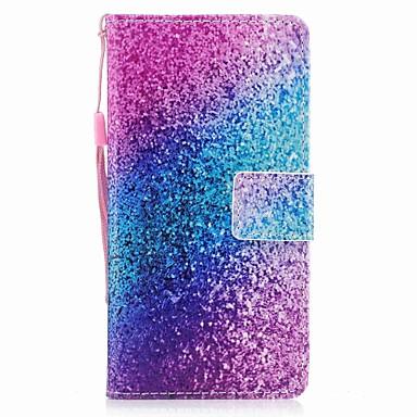 Maska Pentru Samsung Galaxy A5(2017) A3(2017) Titluar Card Portofel Întoarce Magnetic Model Carcasă Telefon culoare Gradient Luciu