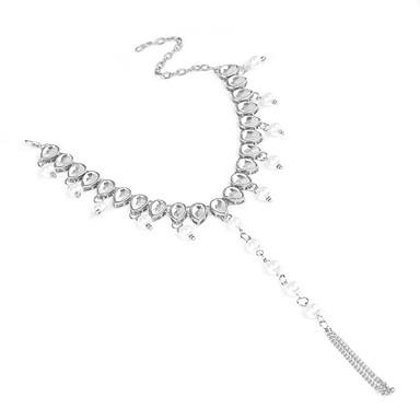 preiswerte Körperschmuck-Damen Tropfen Bling Bling Künstliche Perle Fusskettchen Schmuck Gold / Silber Für Strasse Ausgehen