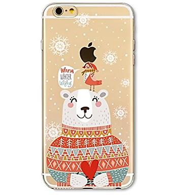 Назначение iPhone X iPhone 8 Чехлы панели Ультратонкий Прозрачный С узором Задняя крышка Кейс для Рождество Мягкий Термопластик для Apple