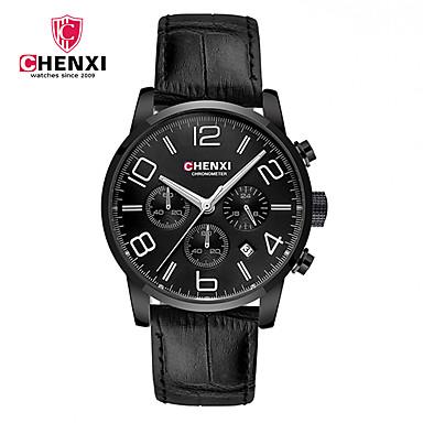 ea91096342e baratos Relógios Masculinos-CHENXI® Homens Relógio de Pulso Quartzo Couro  Preta   Marrom Calendário