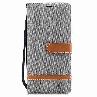 케이스 제품 Samsung Galaxy Note 8 지갑 / 카드 홀더 / 스탠드 전체 바디 케이스 솔리드 하드 직물 용 Note 8