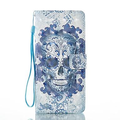 Maska Pentru Samsung Galaxy Note 8 Titluar Card Portofel Cu Stand Întoarce Magnetic Model Carcasă Telefon Cranii Greu PU piele pentru