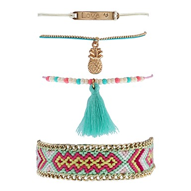 Pentru femei Brățări cu Lanț & Legături Brățări cu Talismane Boem Modă Ștras Aliaj Bijuterii Casual Stradă Costum de bijuterii