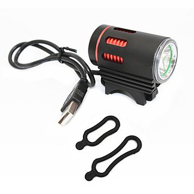 رخيصةأون اضواء الدراجة-اضواء الدراجة LED Cree® XM-L T6 1 بواعث 1000 lm 3 إضاءة الوضع محمول حجم السفر رداء واقي أخضر