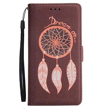 Недорогие Чехлы и кейсы для Galaxy Note 4-Кейс для Назначение SSamsung Galaxy Note 8 / Note 5 / Note 4 Кошелек / Бумажник для карт / со стендом Чехол Ловец снов / Сияние и блеск Твердый Кожа PU