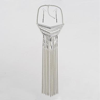Pentru femei Geometric Shape Formă Metalic Personalizat Ciucure Vintage De Bază Coliere cu Pandativ Piatră Aliaj Coliere cu Pandativ