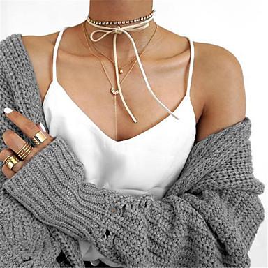 Naisten Bowknot Shape Ylellisyys Akryylilameli minimalistisesta Eurooppalainen Kaksoiskerros Muoti Säädettävä Euramerican Korusetti