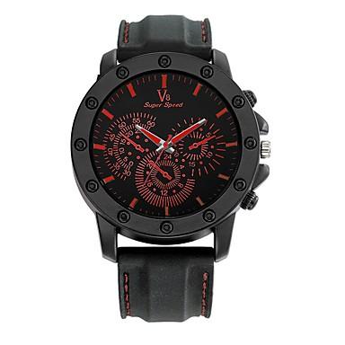 Bărbați Ceas de Mână Ceas Casual Ceas Sport Chineză Quartz / Silicon Cauciuc Bandă Casual Negru