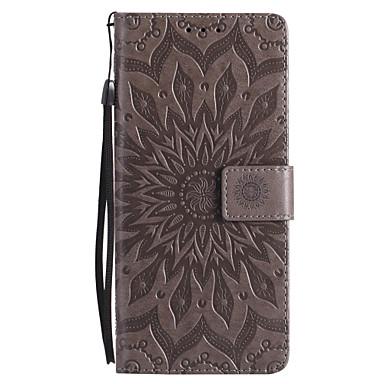 Недорогие Чехлы и кейсы для Galaxy Note 4-Кейс для Назначение SSamsung Galaxy Note 8 / Note 5 / Note 4 Кошелек / Бумажник для карт / со стендом Чехол Мандала Твердый Кожа PU