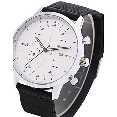 Bărbați Quartz Ceas de Mână Chineză Calendar Material Bandă Casual Ceas Elegant Modă Cool Negru