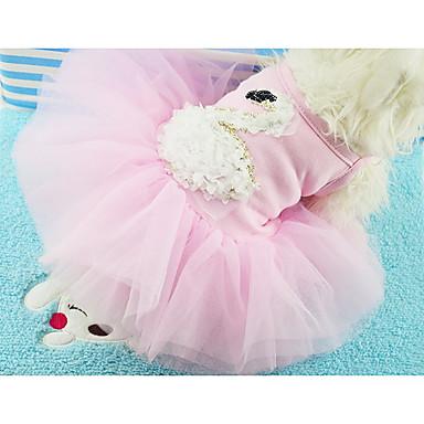 Câine Rochii Îmbrăcăminte Câini Casul/Zilnic Prințesă Alb Mov Roz Costume Pentru animale de companie
