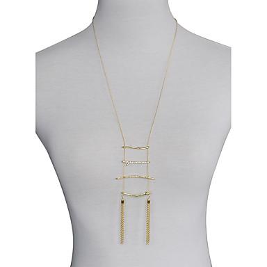 Pentru femei Geometric Shape Personalizat De Bază Multistratificat Coliere cu Pandativ Coliere Layered Aliaj Coliere cu Pandativ Coliere