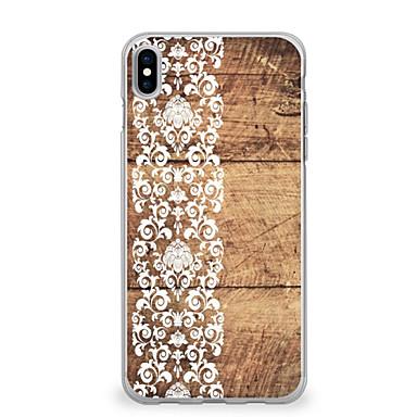 voordelige iPhone 7 hoesjes-hoesje Voor Apple iPhone X / iPhone 8 Plus / iPhone 8 Ultradun / Patroon Achterkant Houtnerf / Lace Printing Zacht TPU