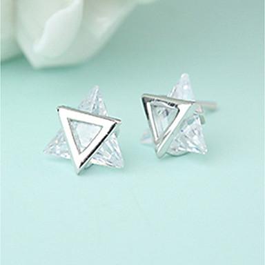 Pentru femei Zirconiu Cubic Cercei Stud - Teak, Zirconiu Cubic Personalizat, Modă Argintiu Pentru Cadou / Casual